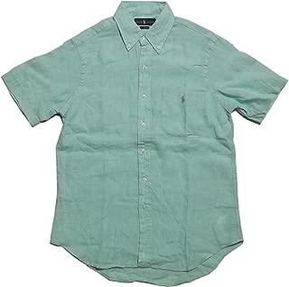 (ポロ ラルフローレン) 半袖 ボタンダウンシャツ リネン グリーン Polo Ralph Lauren 1215[並行輸入品]