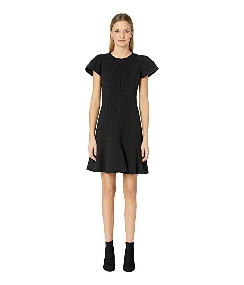 Rebecca Taylor Short Sleeve Stretch Texture Dress