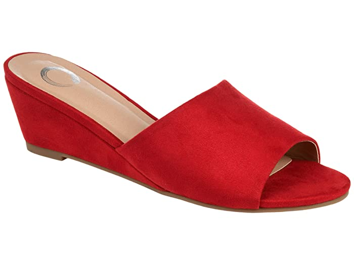 1950s Style Shoes | Heels, Flats, Boots Journee Collection Pavan Slide Red Womens Shoes $54.99 AT vintagedancer.com