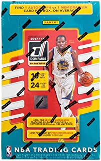 2017/18 Panini Donruss NBA Basketball ENORMOUS Factory Sealed HOBBY Box with TWO(2) AUTOGRAPH or MEMORABILIA & 240 Cards! Look for Rookies & Autographs of Jayson Tatum, Lonzo Ball & More! WOWZZER!