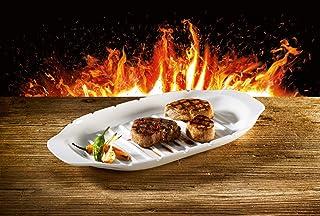 BBQ Passion Kebob Platter by Villeroy & Boch - Premium Porcelain - Made in Germany - Dishwasher and Microwave Safe - 16.5 ...