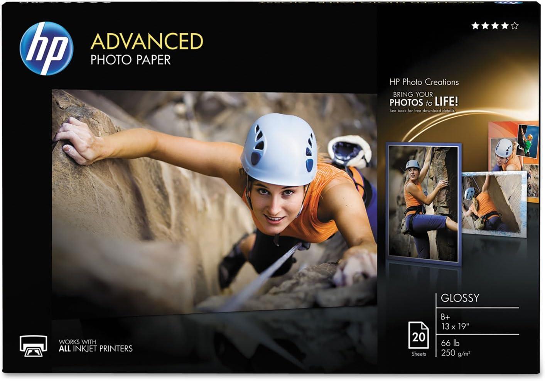 HP CR696A Cheap bargain Advanced Photo Paper 66 lbs 20 Shee 19 New arrival Glossy 13 x