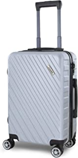 MIMIDI Hardside Spinner Suitcase with TSA Lock Luggage -20in, Silver