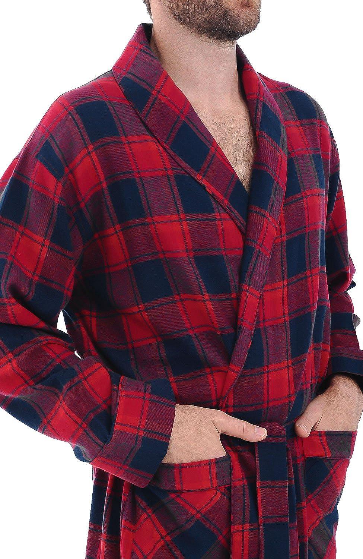 Soft Cotton Kimono Alexander Del Rossa Mens Lightweight Flannel Robe