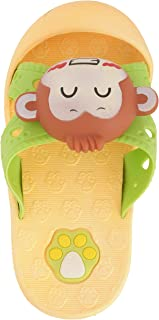 Yellow Bee Monkey Slide Slippers, Yellow