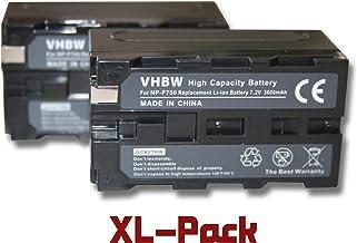 Set x 2 baterías vhbw 3600mAh para videocámara Sony DCR-TRV820, DCR-TRV9, DCR-TRV900, DCR-TV, DCR-TV900, DCR-TV900E, DCR-VX (MiniDV), DCR-VX1000