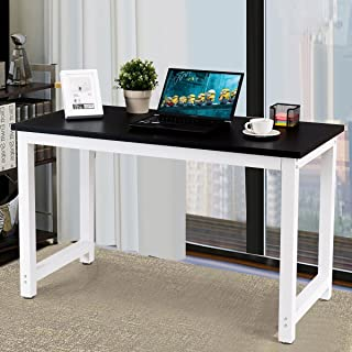 CHEFJOY Computer Desk PC Laptop Table Wood Workstation Study Home Office Furniture, Black