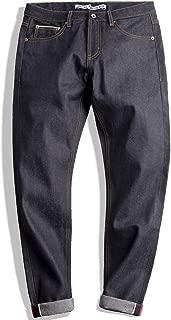 Men's 14.5oz Classic Slim Straight Fit Raw Selvedge Denim Jeans