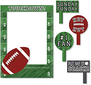 Big Dot of Happiness End Zone - Football - Birthday Party or Baby Shower Selfie Photo Booth Picture Frame & Props - Printed on Sturdy Material