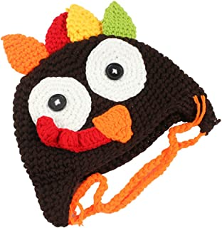 Holiday Thanksgiving Costume Baby Thanksgiving Turkey Hat, Knitted Crochet Costume Hat Caps for Unisex Baby Toddler
