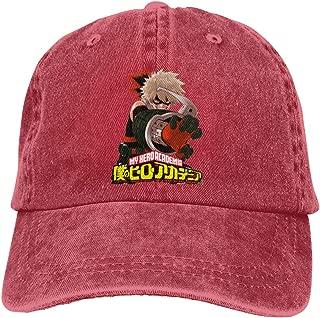 UXUEYING Bakugo Bokuno Hero Adjustable Baseball Cap Hip-Hop Unisex Snapback Hat Outdoor Bike Sun Cap