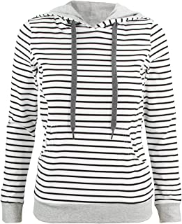 La Mere Clothing Nursing Hoodie - White with Black Stripes