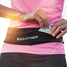 Running Belt, Fitness Belt, Flip Waist Belt with Key Clip, Fits All Phone Sizes. Unisex. for Gym Workouts, Exercise, Cycling, Walking, Jogging, Marathons, Yoga, Sport, Travel & Outdoor Activities
