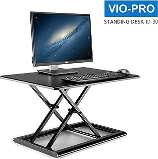 Viozon高さ調整可 昇降式多機能畳 オフィスワークテーブル/デスク/食卓 ダイニングテーブル 折りたたみ無段階座位立位両用オフィスワークテーブルstanding desk 30 x 20インチ … (ブラック)