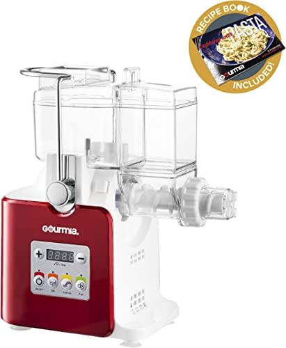 Gourmia GPM500 Complete Craft Electric Pasta Maker for Regular, Gluten Free and Whole Wheat Pasta, 8 Discs Included- ...