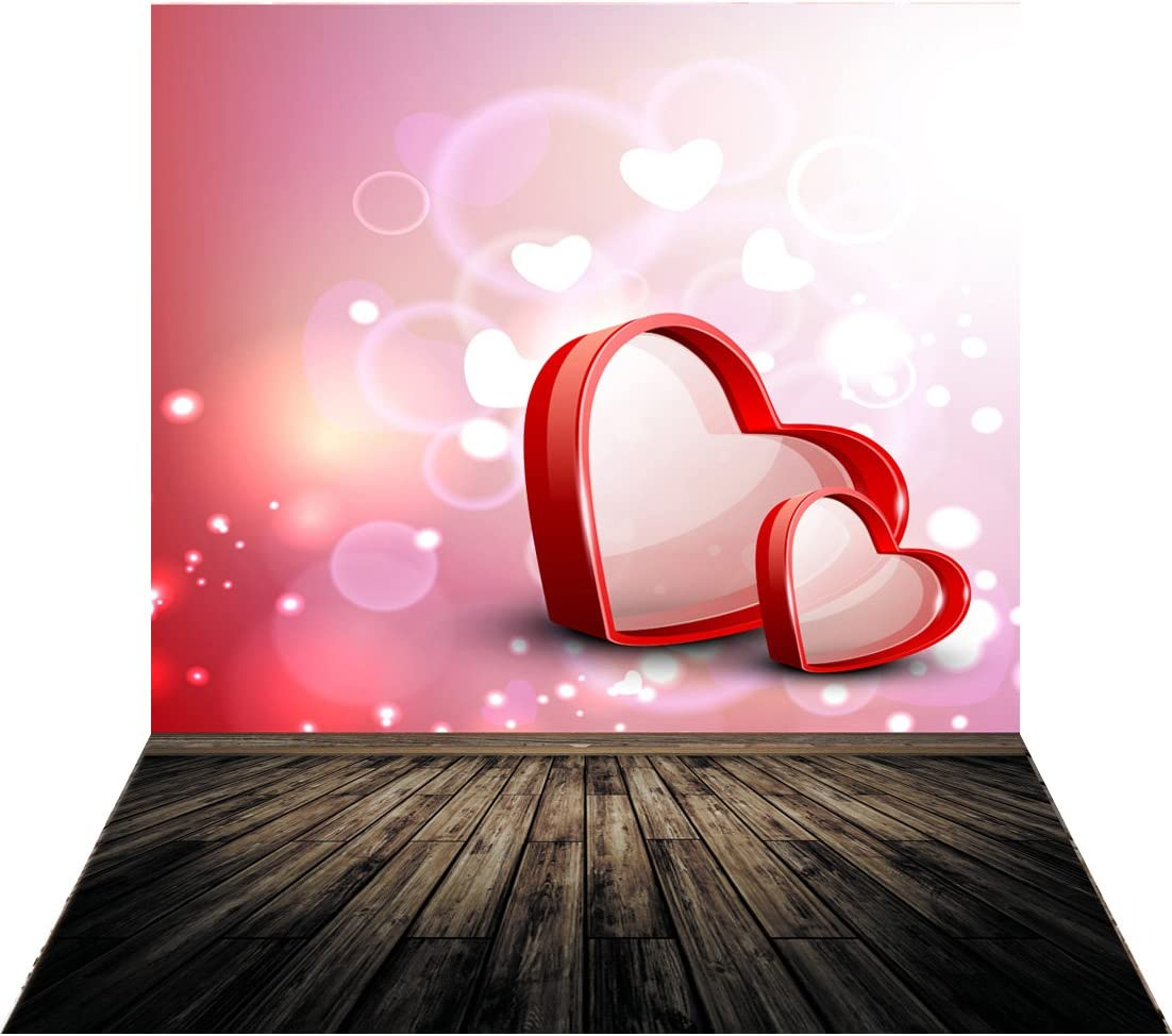 GoEoo 10x10ft Valentines Day Photography Backdrops Wedding Love Backgrounds for Photo Studio Photo Backdrop 10918