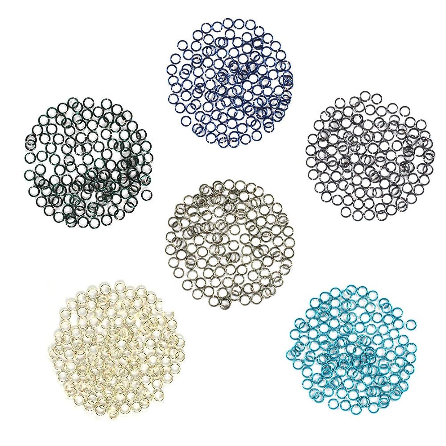 Cold and Dark - Enameled Copper Jump Rings – 22 Gauge – 4.0mm ID - 600 Rings - Blue, Blue Steel, Hematite, Pacific Blue, Silver, Teal