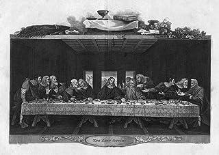 Da Vinci Last Supper NThe Last Supper Copper Engraving By James Neagle After The Tempera Painting By Leonardo Da Vinci 149...
