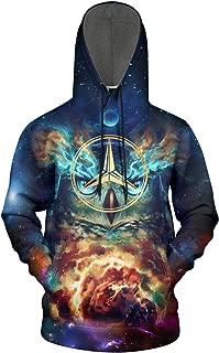 Men Starry Sky Mercedes-Benz-Flash-Gold Fleece Wool Warm Hoodie Sweatshirt Casual Pullover Hoodie