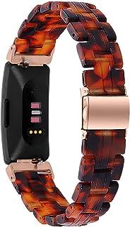 Jennyfly Bracelet de rechange pour Fitbit Inspire 2 - En résine - Avec boucle en acier inoxydable - Réglable - 14 à 20 cm...