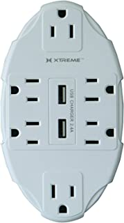 XTREME 6 OUTLET WALL TAP W DUAL USB PORT