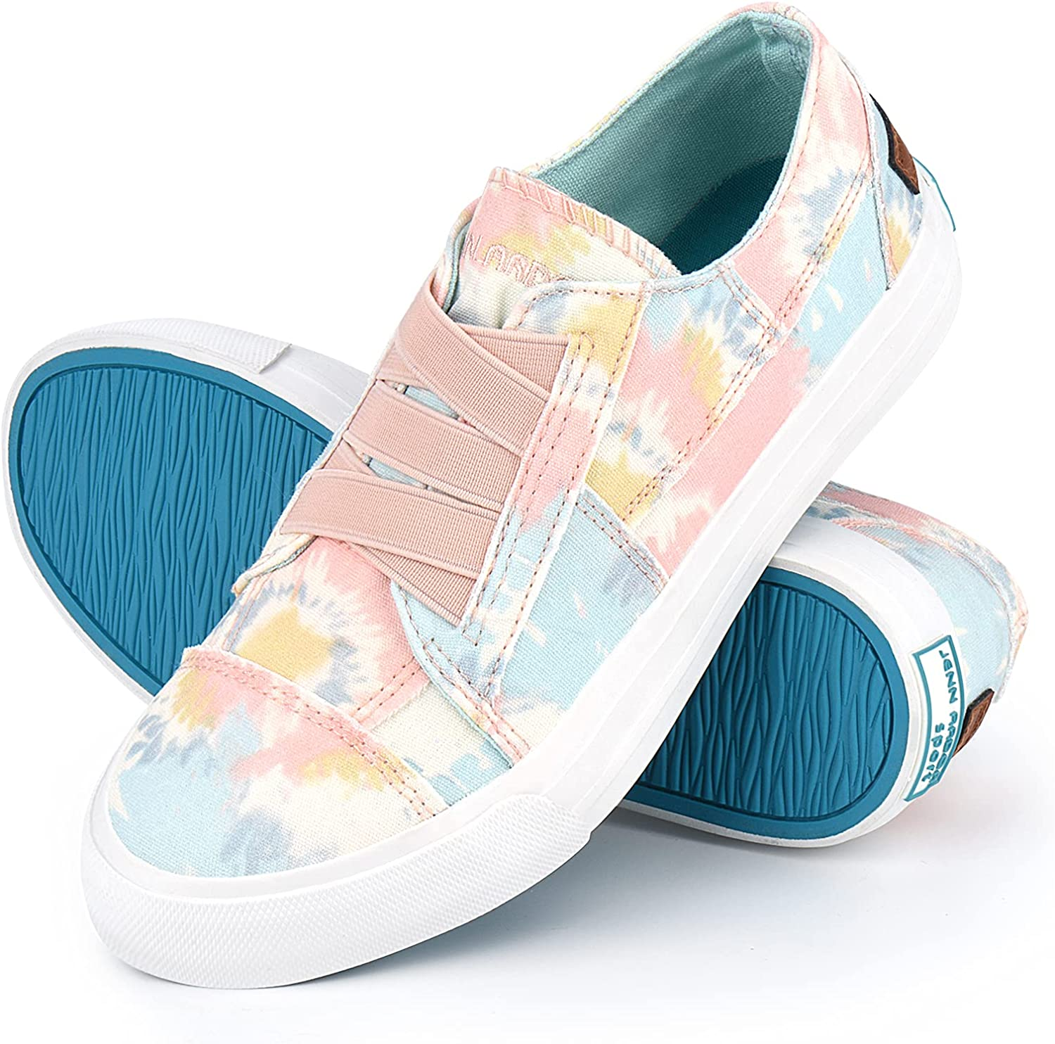 Women Canvas Sneakers Slip On Shoes Fashion Low Tops Sneakers Casual Walking Shoes Comfortable