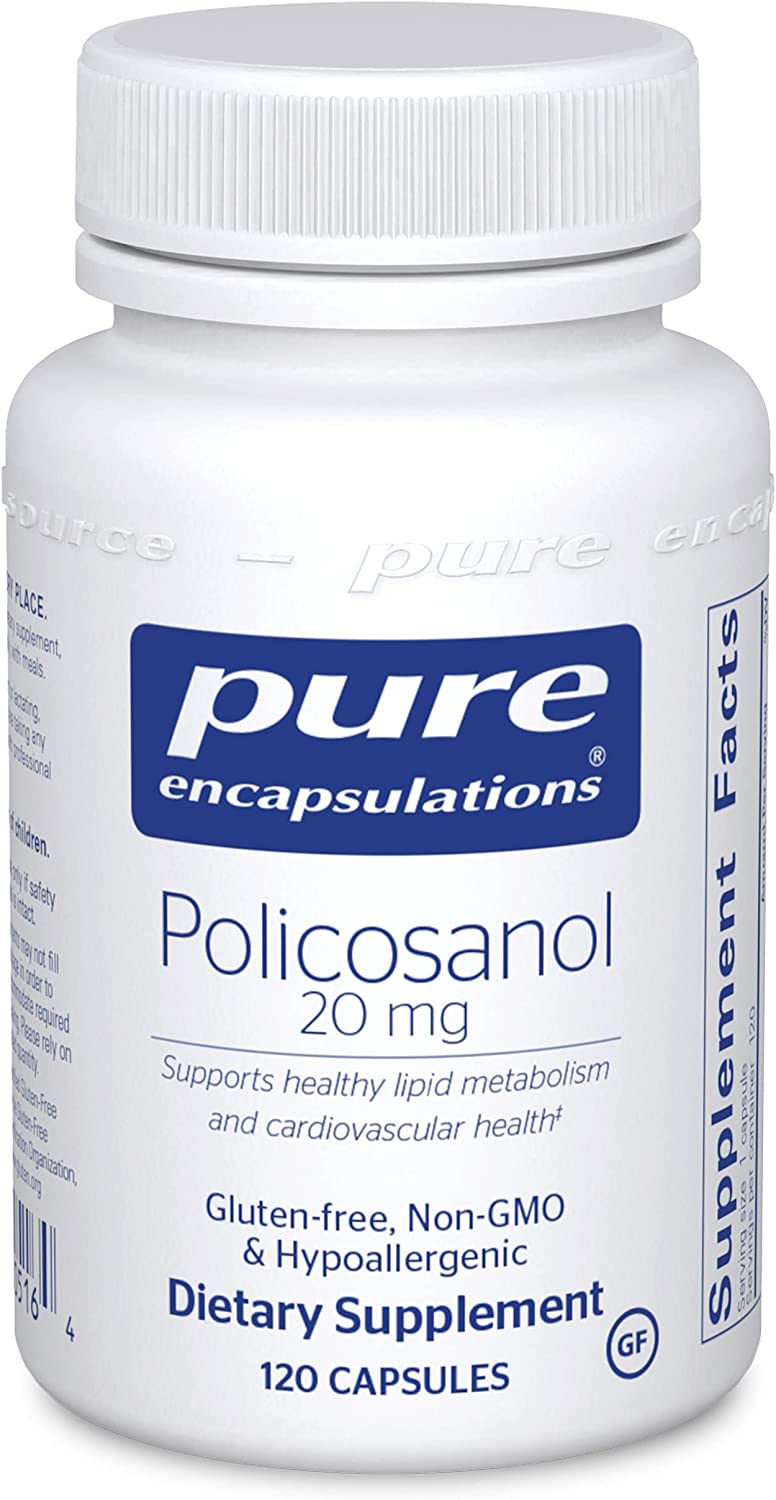 Challenge the lowest price Spring new work Pure Encapsulations - Policosanol 20 Hypoallergenic mg Supplem