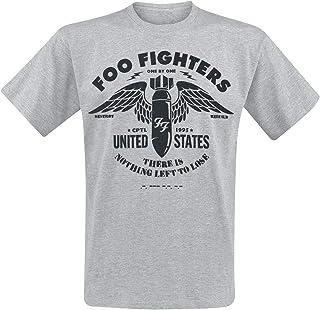 Band-Merch Foo Fighters Amplified Collection Camper Van M/änner T-Shirt altwei/ß Bands