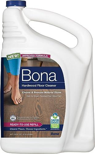 Bona Hardwood Floor Cleaner 128 oz Refill, Clear