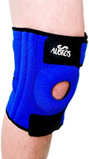 Knee Brace Support with Dual Metal Stabilizers for Meniscus Tear Tendonitis Arthritis Pain Provides Compression for the Patella with Breathable Neoprene and Non-Slip Silicone