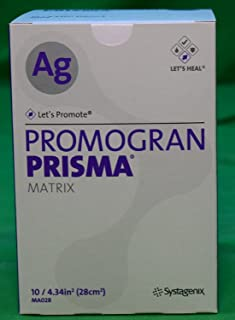 Wound Care Dressings Systagenix Promogran Prisma Ag #MA028 - Matrix Dressing with Silver, 10 Count