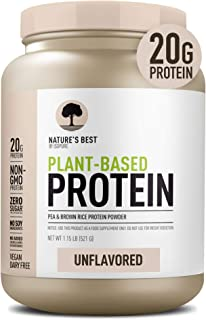 Nature's Best Plant Based Vegan Protein Powder by Isopure - Organic Keto Friendly, Low Carb, Gluten Free, 20g Protein, 0g ...