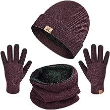 Yuson Girl Set de Bufanda, Conjunto de Guantes de Punto BufaSombrero de Invierno Gorras Con Bufanda y Gorros de punto Sombreros de Suave Encantador Invierno de Guantes
