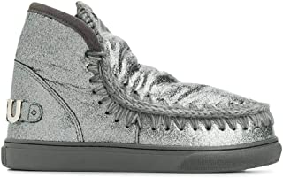 Mou Luxury Fashion Womens FW111008C3DCHA Silver Ankle Boots | Fall Winter 19
