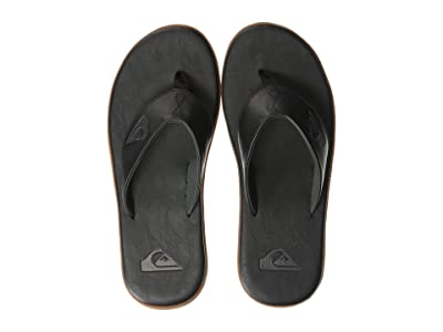 Quiksilver Haleiwa Plus Nubuck (Black/Black/Brown) Men