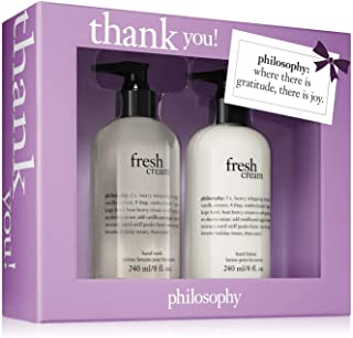 Philosophy Thank You by Philosophy for Unisex - 2 Pc Set 2 x 8oz Fresh Cream Hand Wash & Hand Lotion, 2 count