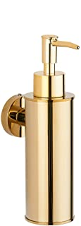 BGL Soap Dispenser Stainless Steel 304 Wall Mount Liquid and Soap Dispenser for Kitchen and Bathroom (Gold, Round)