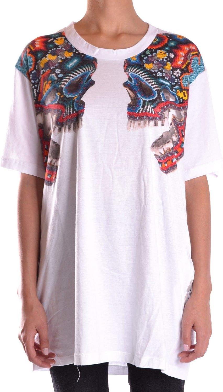 LANEUS Women's MCBI16023 White Cotton TShirt