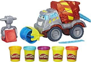 Play-Doh Max The Cement Mixer Toy Construction Truck with...