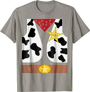 Western Sheriff Costume Tshirt - Easy Halloween Costume Idea
