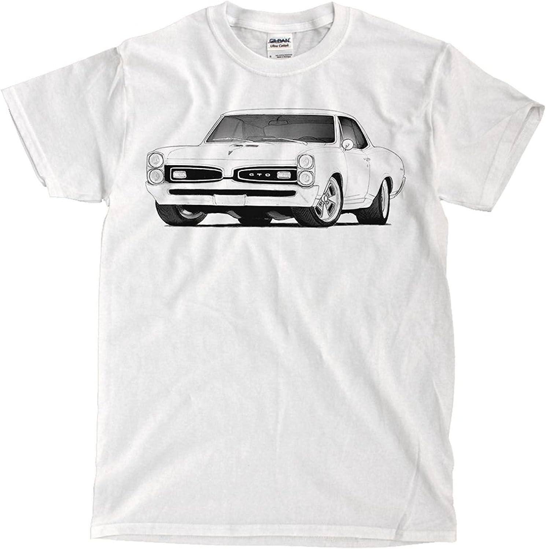 Nashville-Davidson Mall LesGo-Tshirt Max 79% OFF Pontiac GTO 1967 T-Shirt White Drawing