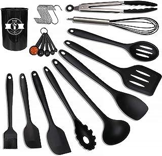 Sponsored Ad - Cooking Utensils Set-Kitchen Utensils Set- Herda 26pcs 446°F Heat Resistant Turner Tongs, Ladle, Spoon, Whi...