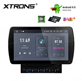 XTRONS 10.1 Android 9.0 Double DIN Head Unit 4G RAM 64G ROM 6-Core Car Stereo Bluetooth 2.5D Anti-Glare Screen Auto Radio DVD Player with HDMI Output GPS Nav Support MirrorLink Dab+ DVR WiFi