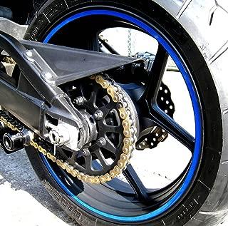 CaliBikerClub Blue Reflective Wheel Rim Stripe Decal Tape for Motorcycle Wheels 17
