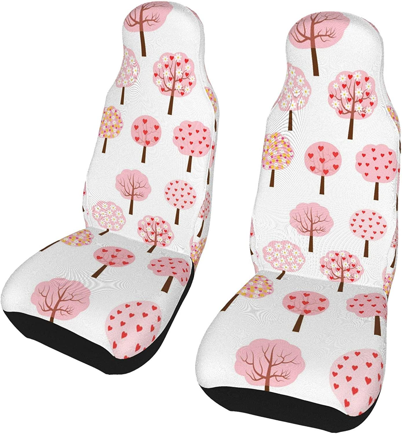 REDDATES Pink Heart Tree Car Inventory cleanup selling sale Front Seat Our shop most popular Protecto Seats Cover