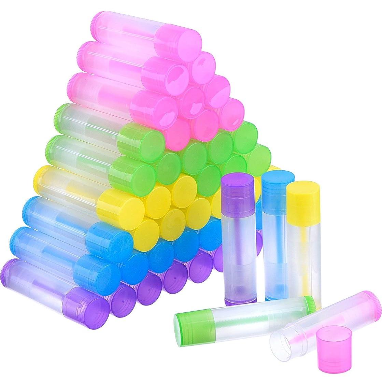 ハウジングスロー錫COOLBOTANG リップバームチューブ リップクリーム 繰り出し 手作りコスメ 手作り化粧品/リップクリーム 50個 5.5ml 詰め替え容器(5色)