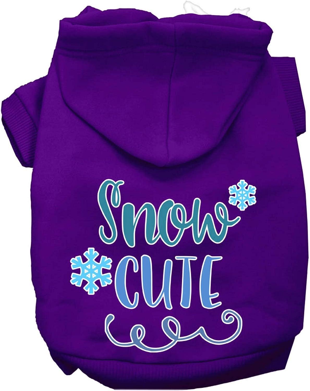 Max 81% OFF Mirage Pet Product Snow Cute Screen Hoodie XS Brand new Purple Print Dog