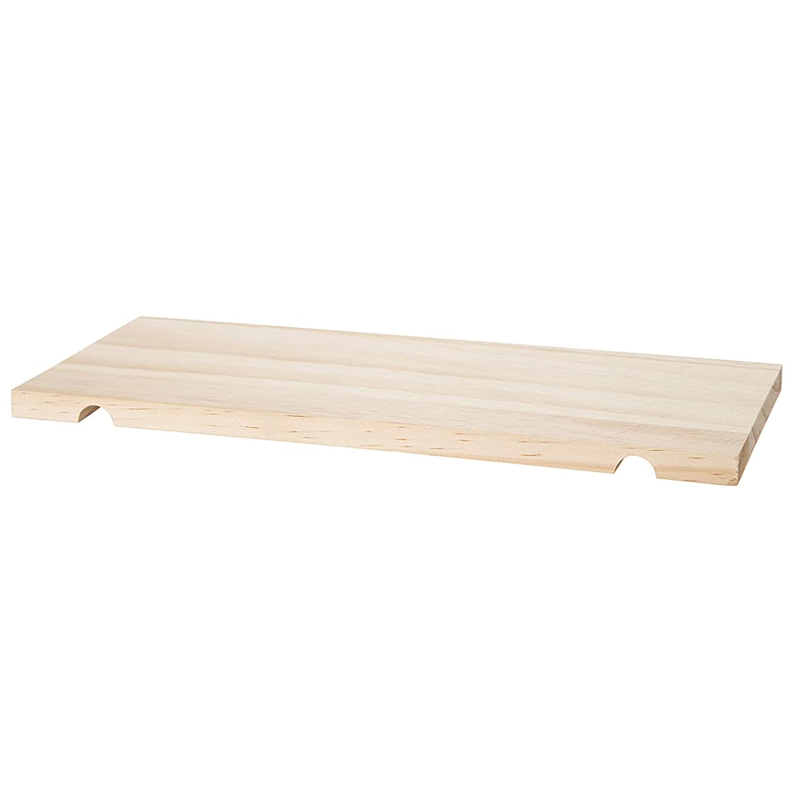 Darice 30053058 System: Wooden Pegboard Shelf, Unfinished, 5 x 12 Inches, Natural