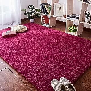 Alfombra, Alfombra Alfombra De Sala De Estar Adecuado para Personas Alérgicas Fácil De Cuidar, para Sala De Estar, Comedor. Habitación - Color Rosa,140 * 200cm
