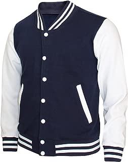 Bcpolo Baseball Jacket Varsity Cotton Letterman Casual Long Sleeves Jacket
